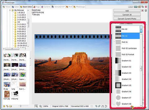 Ảnh chụp màn hình PhotoScape cho Windows XP