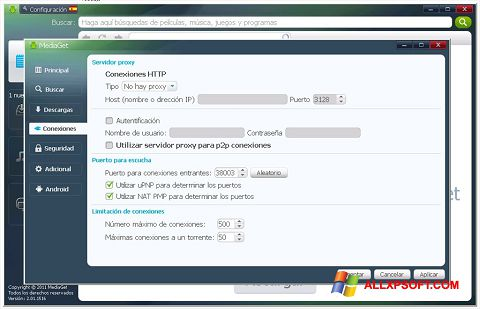 Ảnh chụp màn hình MediaGet cho Windows XP