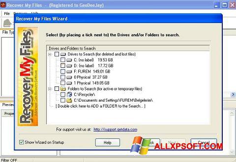 Ảnh chụp màn hình Recover My Files cho Windows XP