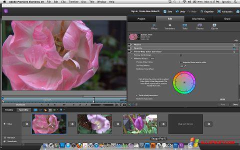 Ảnh chụp màn hình Adobe Premiere Elements cho Windows XP