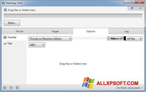Ảnh chụp màn hình TeraCopy cho Windows XP