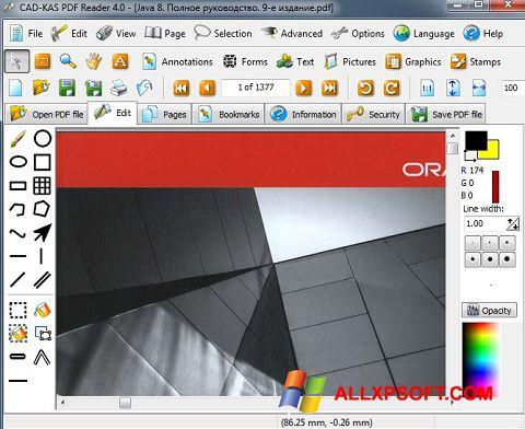 Ảnh chụp màn hình PDF Reader cho Windows XP