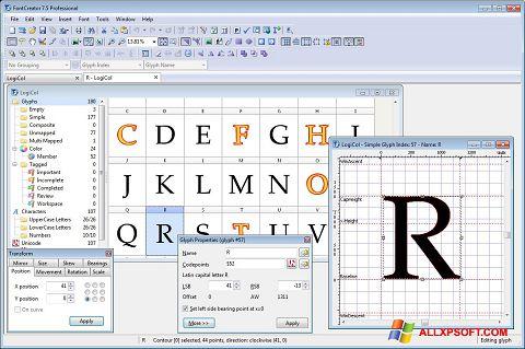Ảnh chụp màn hình Font Creator cho Windows XP