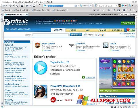 Ảnh chụp màn hình Lunascape cho Windows XP