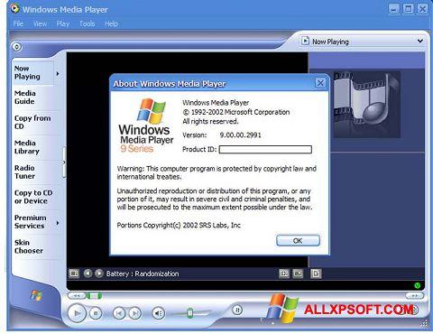Ảnh chụp màn hình Windows Media Player cho Windows XP