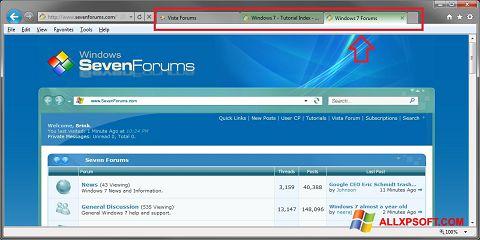 Ảnh chụp màn hình Internet Explorer cho Windows XP