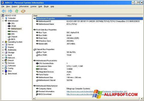 Ảnh chụp màn hình AIDA32 cho Windows XP