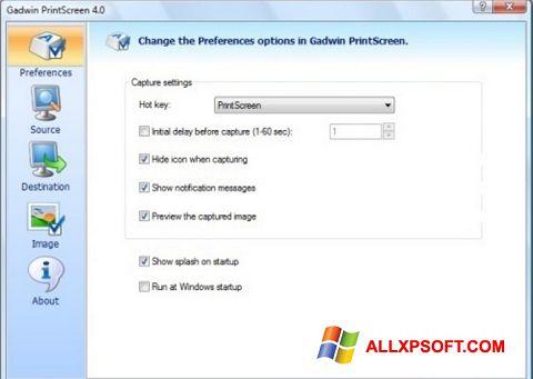 Ảnh chụp màn hình Gadwin PrintScreen cho Windows XP