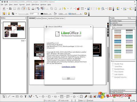 Ảnh chụp màn hình LibreOffice cho Windows XP