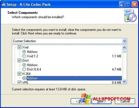 Ảnh chụp màn hình K-Lite Codec Pack cho Windows XP