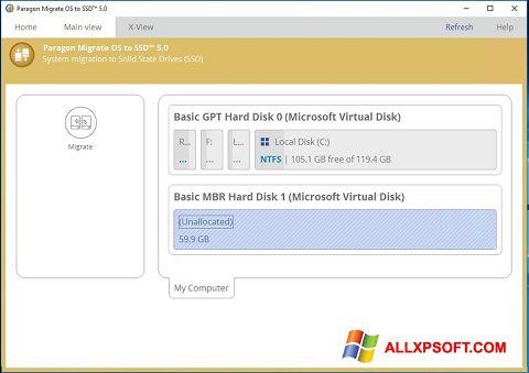 Ảnh chụp màn hình Paragon Migrate OS to SSD cho Windows XP
