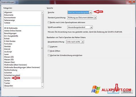 Ảnh chụp màn hình Adobe Reader cho Windows XP