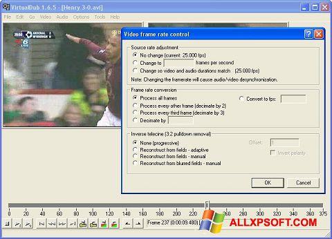 Ảnh chụp màn hình VirtualDubMod cho Windows XP