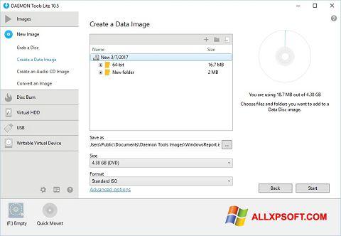 Ảnh chụp màn hình DAEMON Tools Lite cho Windows XP