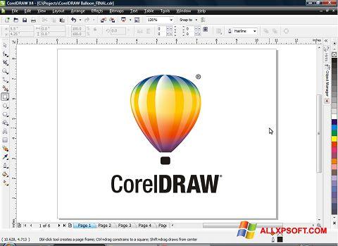 Ảnh chụp màn hình CorelDRAW cho Windows XP