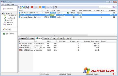 Ảnh chụp màn hình BitTorrent cho Windows XP