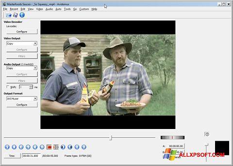 Ảnh chụp màn hình Avidemux cho Windows XP