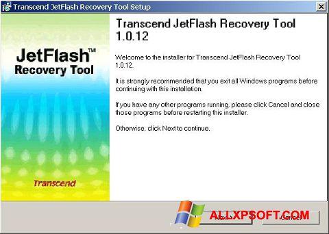 Ảnh chụp màn hình JetFlash Recovery Tool cho Windows XP