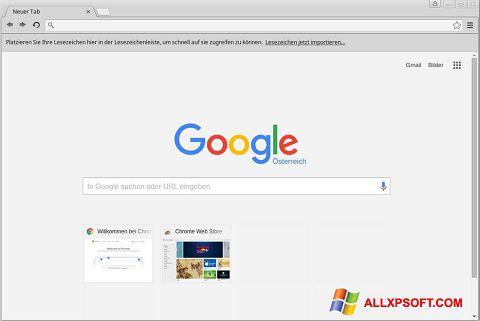Ảnh chụp màn hình Google Chrome cho Windows XP