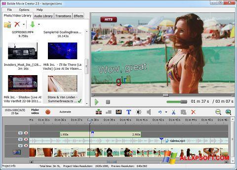 Ảnh chụp màn hình Bolide Movie Creator cho Windows XP