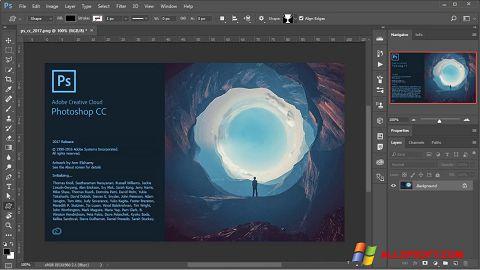 Ảnh chụp màn hình Adobe Photoshop cho Windows XP