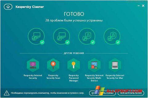 Ảnh chụp màn hình Kaspersky Cleaner cho Windows XP