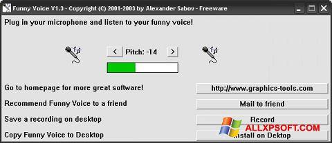 Ảnh chụp màn hình Funny Voice cho Windows XP