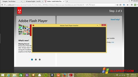 Ảnh chụp màn hình Adobe Flash Player cho Windows XP