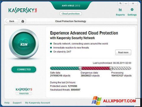 Ảnh chụp màn hình Kaspersky cho Windows XP