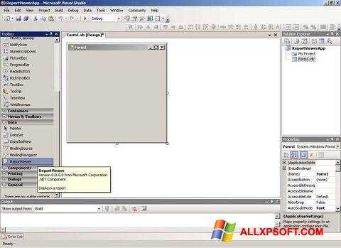 Ảnh chụp màn hình Microsoft Visual Studio cho Windows XP