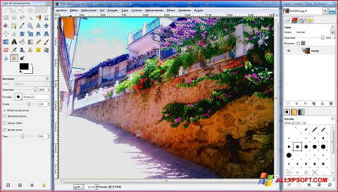 Ảnh chụp màn hình GIMP cho Windows XP