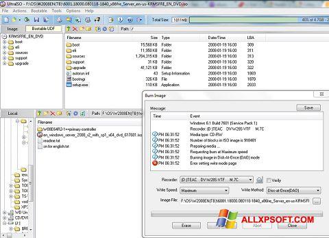 Ảnh chụp màn hình UltraISO cho Windows XP