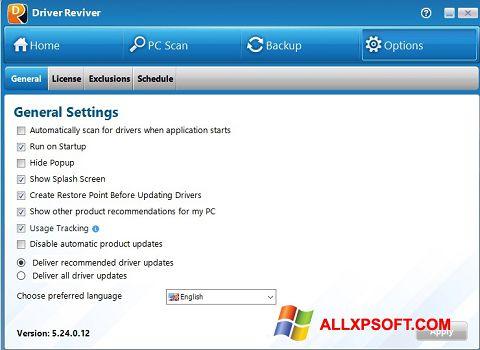 Ảnh chụp màn hình Driver Reviver cho Windows XP