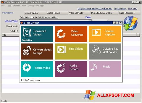 Ảnh chụp màn hình aTube Catcher cho Windows XP
