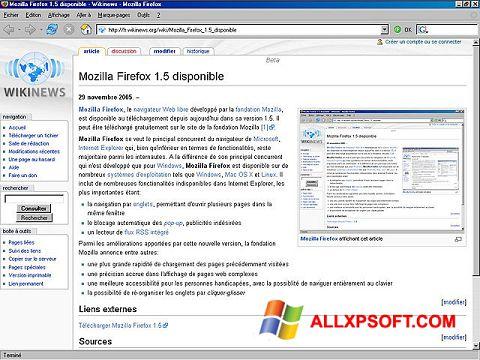 Ảnh chụp màn hình Mozilla Firefox cho Windows XP