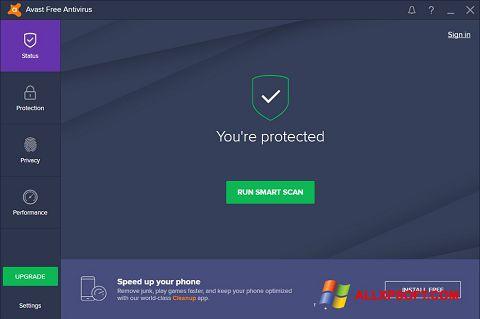 Ảnh chụp màn hình Avast Free Antivirus cho Windows XP