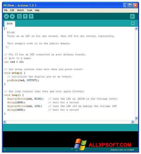 Ảnh chụp màn hình Arduino cho Windows XP