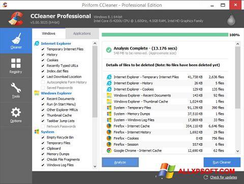 Ảnh chụp màn hình CCleaner cho Windows XP