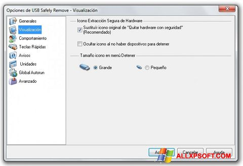 Ảnh chụp màn hình USB Safely Remove cho Windows XP