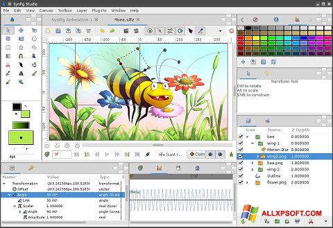 Ảnh chụp màn hình Synfig Studio cho Windows XP