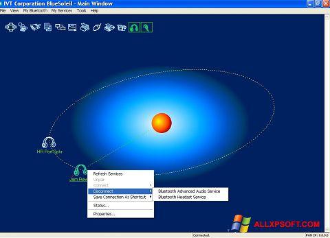 Ảnh chụp màn hình BlueSoleil cho Windows XP