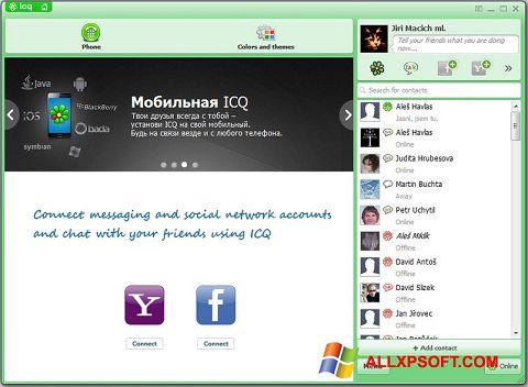 Ảnh chụp màn hình ICQ cho Windows XP