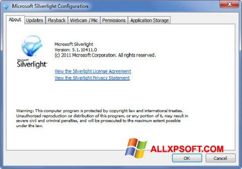 Ảnh chụp màn hình Microsoft Silverlight cho Windows XP