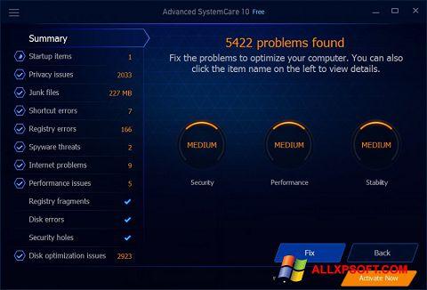 Ảnh chụp màn hình Advanced SystemCare Free cho Windows XP