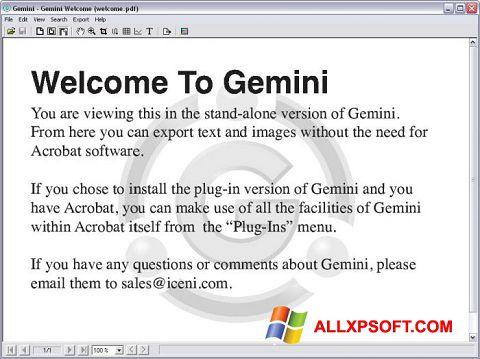 Ảnh chụp màn hình Gemini cho Windows XP