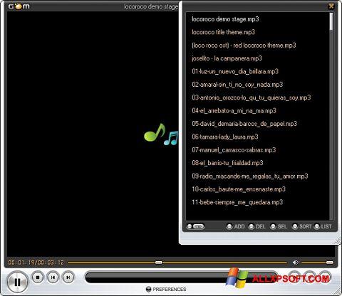 Ảnh chụp màn hình GOM Player cho Windows XP