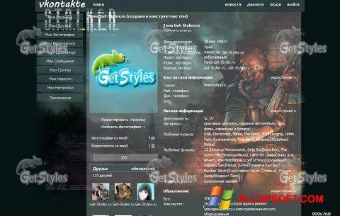 Ảnh chụp màn hình Get Styles cho Windows XP