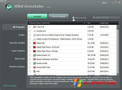 Ảnh chụp màn hình IObit Uninstaller cho Windows XP