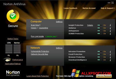 Ảnh chụp màn hình Norton AntiVirus cho Windows XP