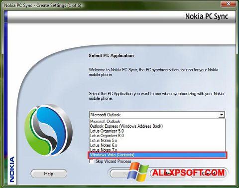Ảnh chụp màn hình Nokia PC Suite cho Windows XP